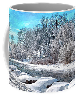 Credit River At Winter Coffee Mug by Kai Saarto
