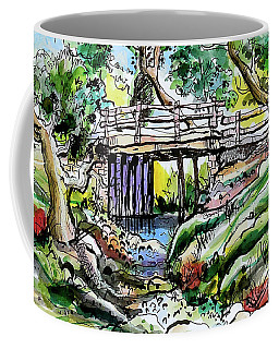 Creek Bed And Bridge Coffee Mug by Terry Banderas