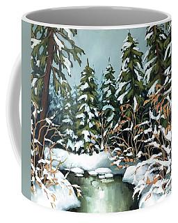 Creek, Winter, Snow Coffee Mug