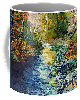 Coffee Mug featuring the painting Creekside Tranquility by Hailey E Herrera