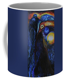 Coffee Mug featuring the painting Creeping Plague by Christophe Ennis