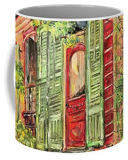 Creole Painted Lady In The Marigny Coffee Mug by Robin Miller-Bookhout