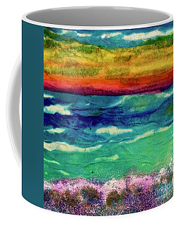 Crepe Paper Sunset Coffee Mug