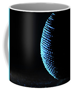 Coffee Mug featuring the photograph Crescent Ball In Cyan by Scott Cordell