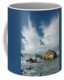 Crescent City Coast And Clouds Coffee Mug