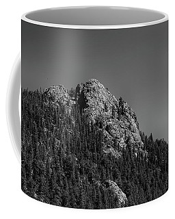 Coffee Mug featuring the photograph Crescent Moon And Buffalo Rock by James BO Insogna