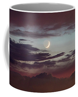 Crescent Moon At Sunset Coffee Mug