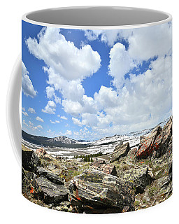 Crest Of Big Horn Pass In Wyoming Coffee Mug