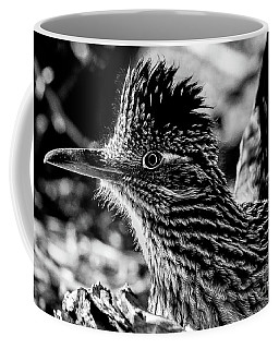 Cresting Roadrunner, Black And White Coffee Mug