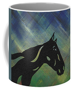 Crimson - Abstract Horse Coffee Mug