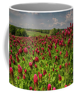 Crimson Clover Patch Coffee Mug by Barbara Bowen