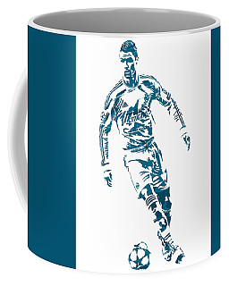 Cristiano Ronaldo Real Madrid Pixel Art 1 Coffee Mug
