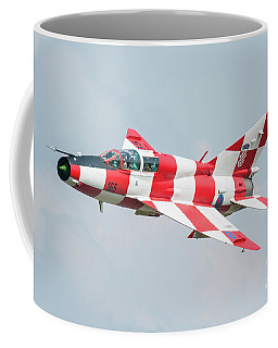 Croatian Air Force Mig-21ub Coffee Mug