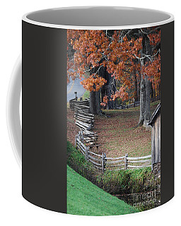 Coffee Mug featuring the photograph Crooked Fence by Eric Liller