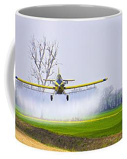 Precision Flying - Crop Dusting 1 Of 2 Coffee Mug by Charlie Brock
