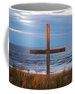 Cross Light Square Coffee Mug by Terry DeLuco