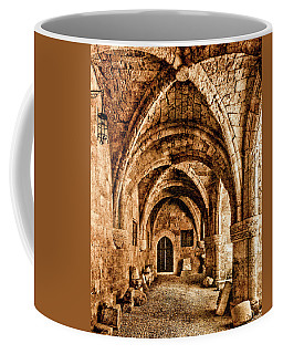 Coffee Mug featuring the photograph Rhodes, Greece - Cross Vault by Mark Forte