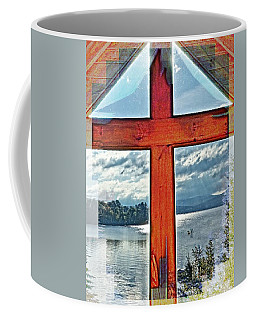 Cross Window Lake View  Coffee Mug