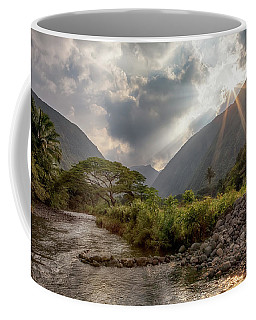 Crossing Hiilawe Stream Coffee Mug