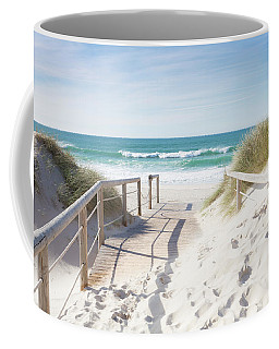 Crossing The Dune Coffee Mug by Edgar Laureano
