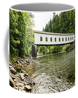 Crossing The Mckenzie River Coffee Mug