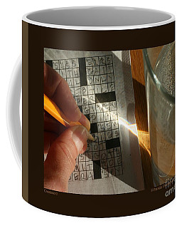 Crossword Coffee Mug by Patricia Overmoyer