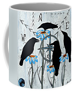 Crow Flowers Coffee Mug