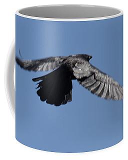 Crow In Flight 2 Coffee Mug