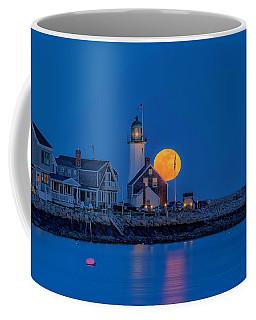 Crow Moon Over Old Scituate Light Coffee Mug
