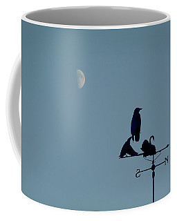 Coffee Mug featuring the photograph Crow On Weathervane by Valerie Anne Kelly