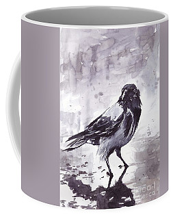 Crow Watercolor Coffee Mug