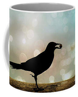 Coffee Mug featuring the photograph Crow With Pistachio by Benanne Stiens
