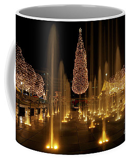 Coffee Mug featuring the photograph Crown Center Christmas 2 by Dennis Hedberg