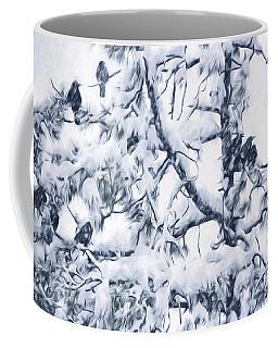 Crows In Snow Coffee Mug