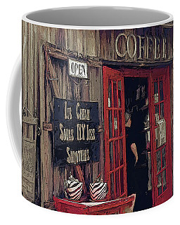 Crucial Coffee Cafe St. Augustine Florida Coffee Mug by Rebecca Korpita