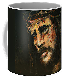 Crucified Jesus Coffee Mug by Carole Foret