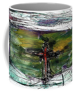 Coffee Mug featuring the painting Crucifixion #3 by Michael Lucarelli