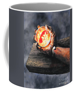 Coffee Mug featuring the painting Crucifixion Version One Glen Concept by Dave Luebbert