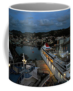 Coffee Mug featuring the photograph Cruise Ship At Antigua by Gary Wonning
