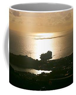 Cruise Ship At Sunset Coffee Mug