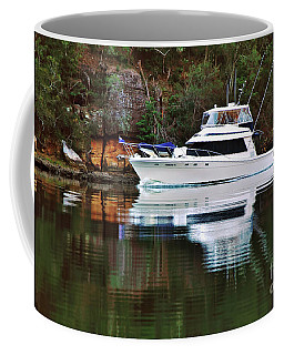 Coffee Mug featuring the photograph Cruising The River By Kaye Menner by Kaye Menner