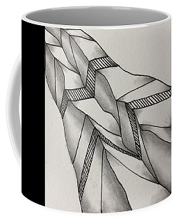 Coffee Mug featuring the drawing Crumpled by Jan Steinle