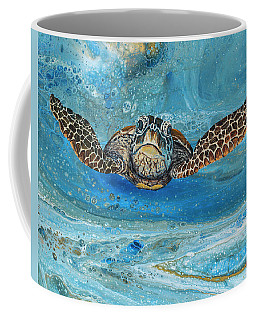 Coffee Mug featuring the painting Crush The Honu by Darice Machel McGuire