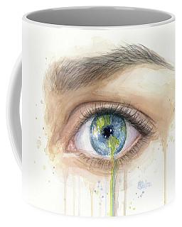 Earth In The Eye Crying Planet Coffee Mug