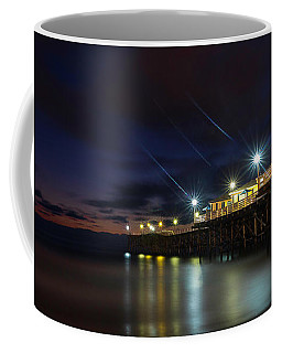 Coffee Mug featuring the photograph Crystal Beach Pier Blue Hour  by James Sage