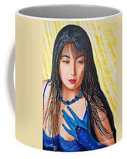 Crystal Blue China Girl            From   The Attitude Girls  Coffee Mug
