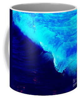 Coffee Mug featuring the painting Crystal Blue Wave Painting by Catherine Lott