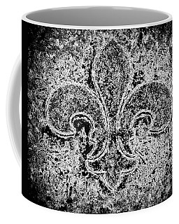 Crystal Ice Fleur De Lis On Black Coffee Mug