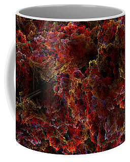 Coffee Mug featuring the digital art Crystal Inspiration Number Two Close Up by Olga Hamilton