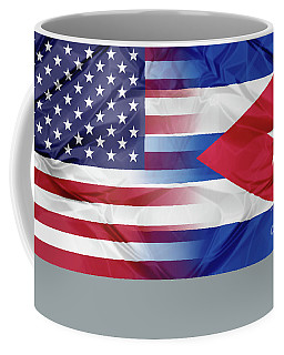 Cuba And Usa Flags Coffee Mug